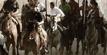 Los caballos y el encierro de Brihuega 2012